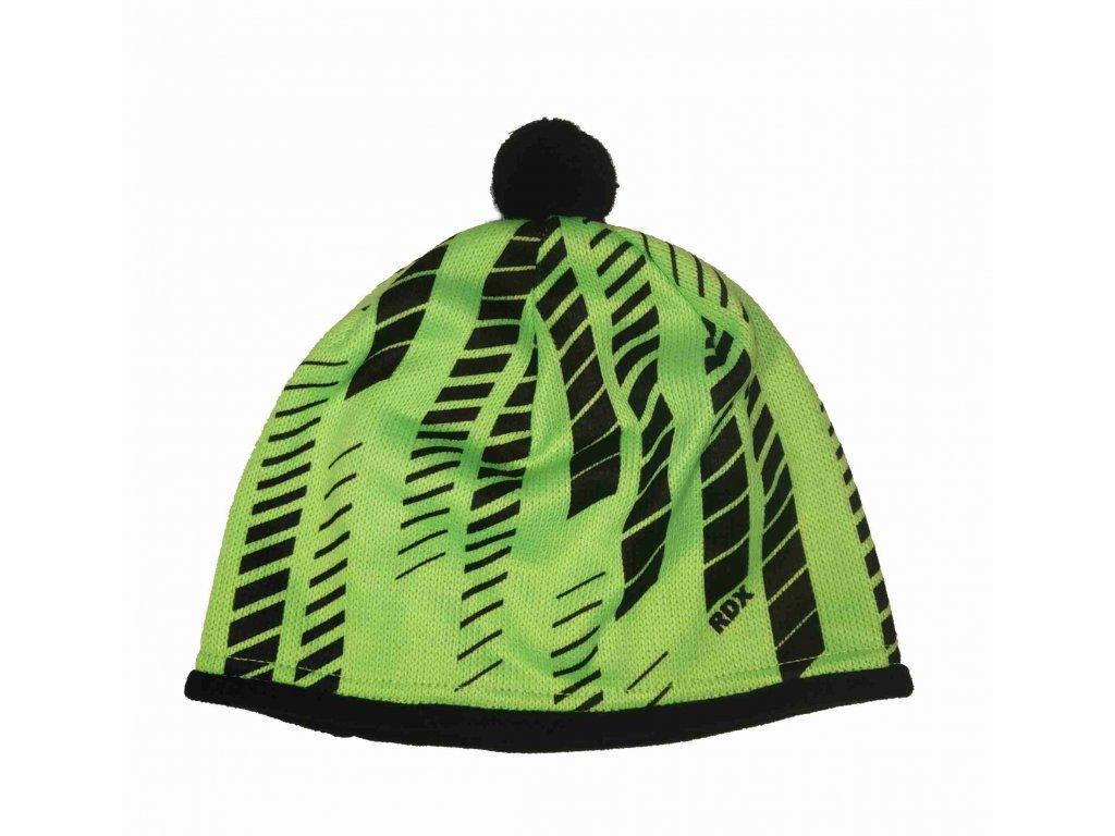 RDX zimní pletená čepice s bambulí 3661 zelená