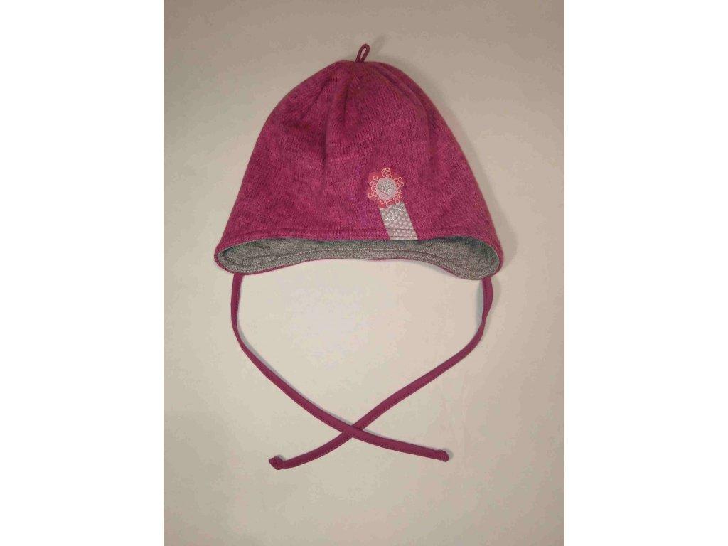 RDX zimní pletená čepice přes uši 3713 fialová