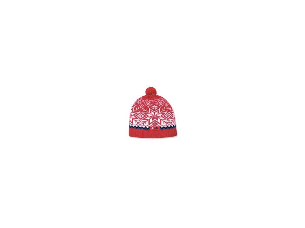 KAMA zimní čepice Merino B55 48-56cm červená