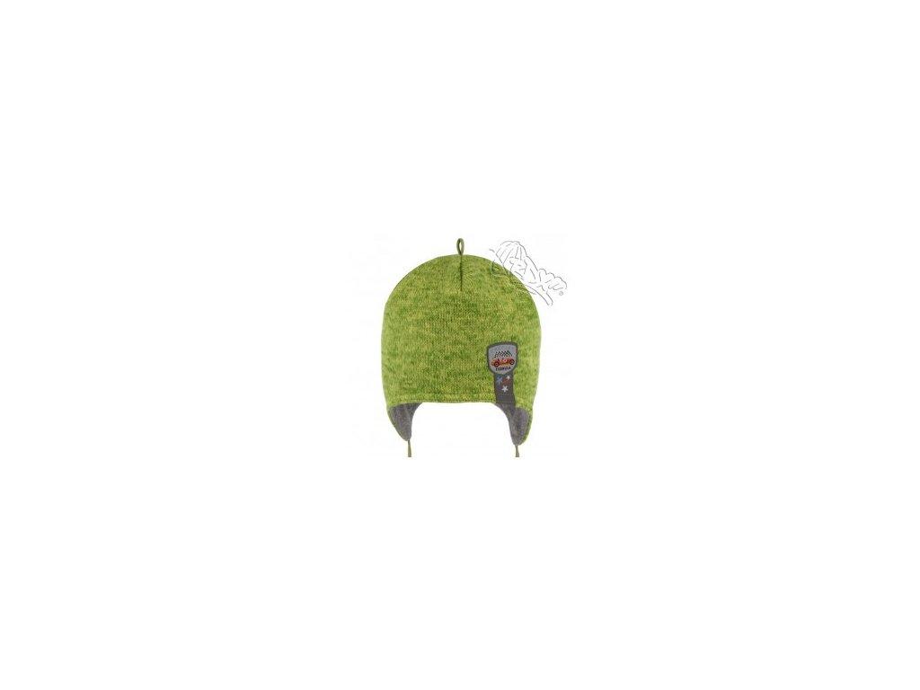 RDX zimní pletená čepice přes uši 3695 zelená