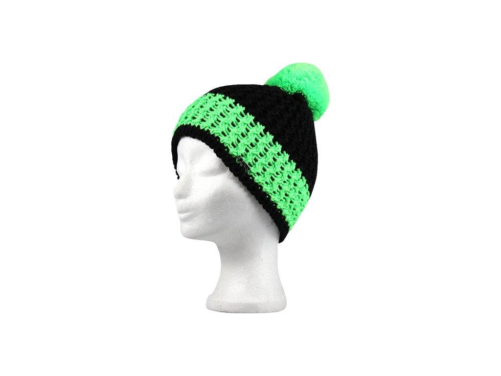 VOXX zimní pletená čepice s bambulí Custom zelená
