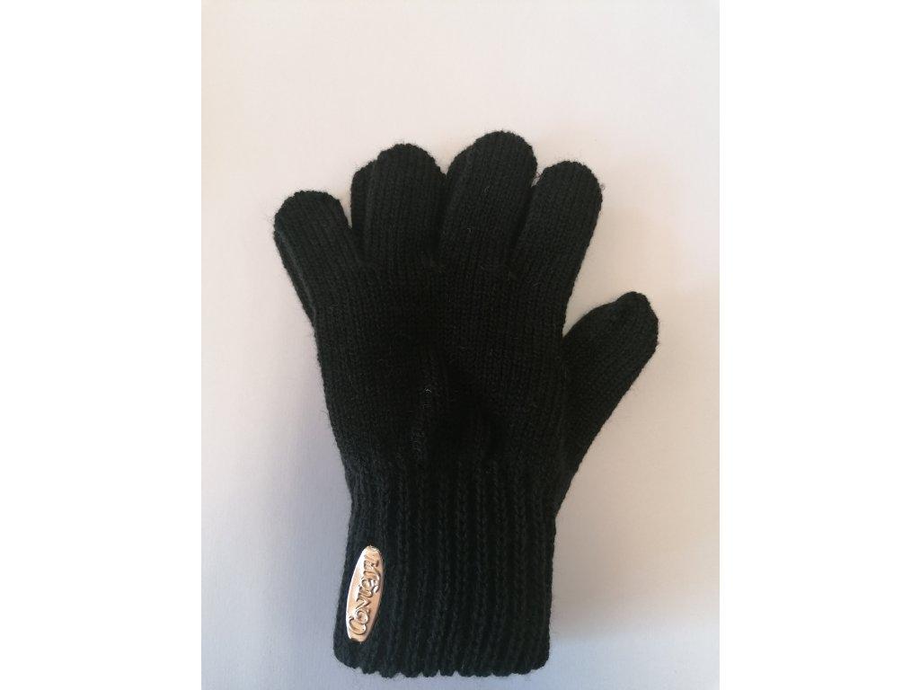 RDX dětské pletené prstové rukavice pruhované khaki