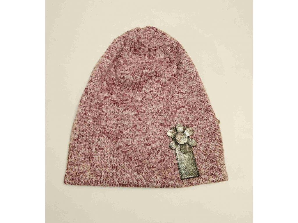 RDX zimní pletená čepice 3885 bordó