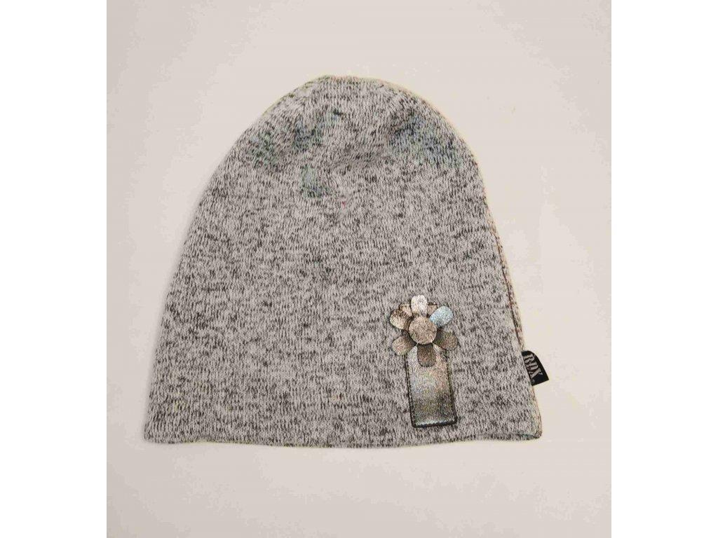RDX zimní pletená čepice 3885 šedá