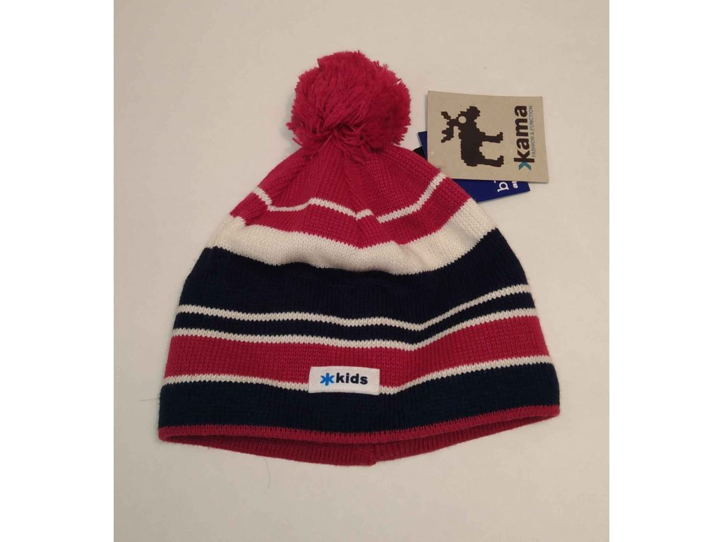 KAMA dětská pletená čepice B24 114 fialová