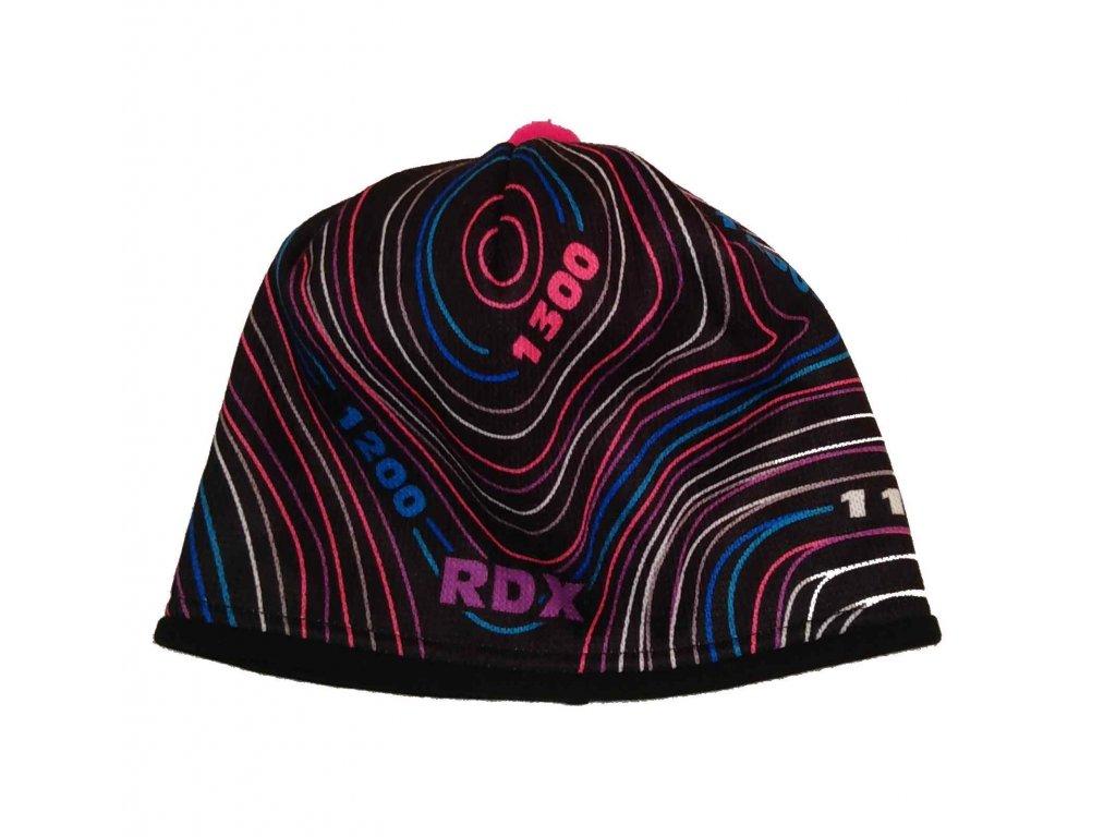 RDX zimní pletená čepice Merino 3574 vrstevnice růžová