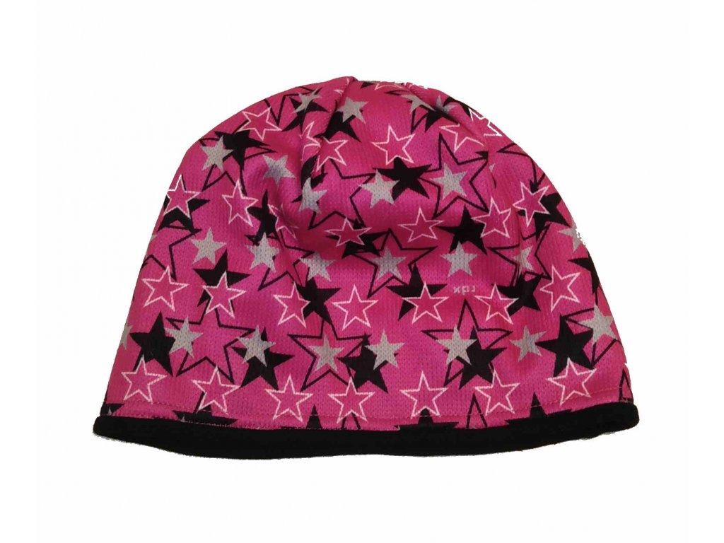 RDX zimní pletená čepice Merino 3524 fialová