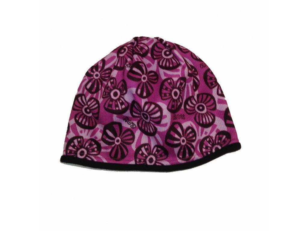 RDX zimní pletená čepice Merino 3575 fialová