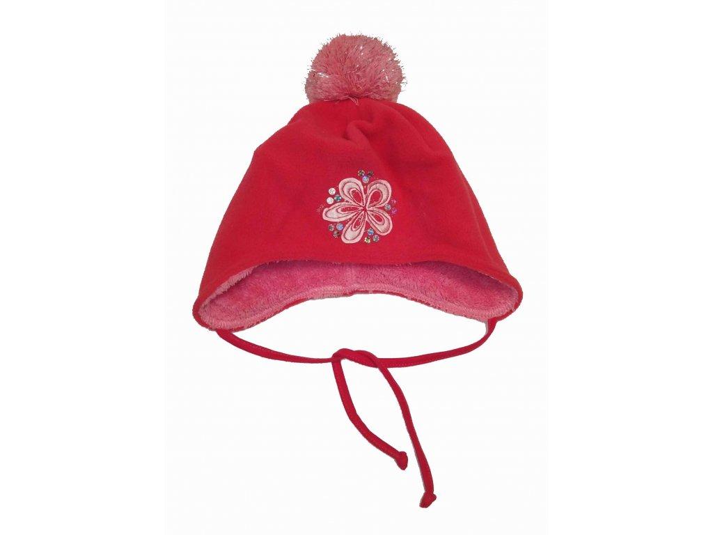 RDX zimní čepice přes uši 3355 růžová