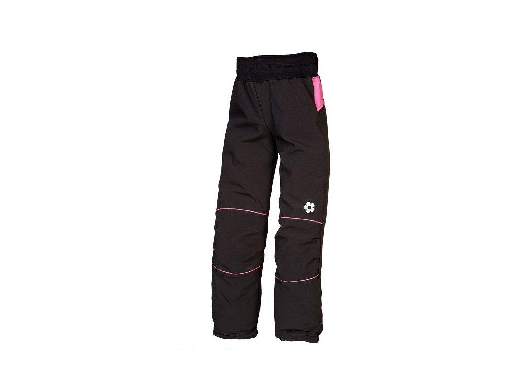 KUKADLOO softshell kalhoty černo-růžové