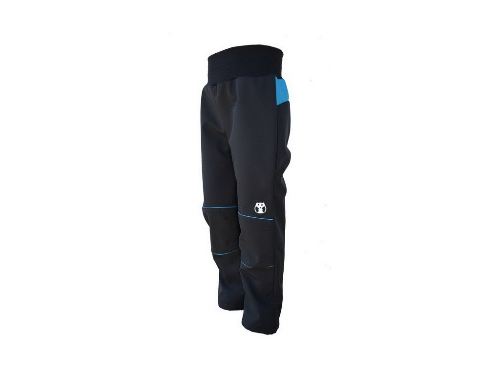 KUKADLOO softshell kalhoty černo-modré
