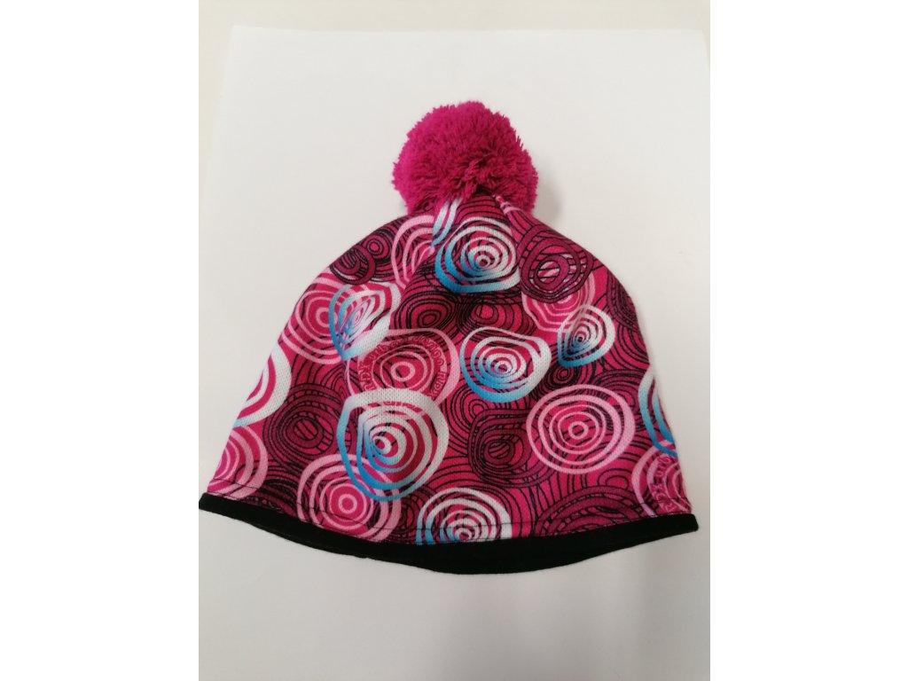 RDX zimní pletená čepice Merino 3461 růžová