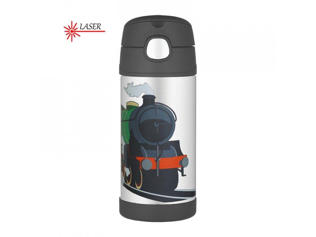 Thermos FUNtainer Dětská termoska s brčkem 355ml - vlak