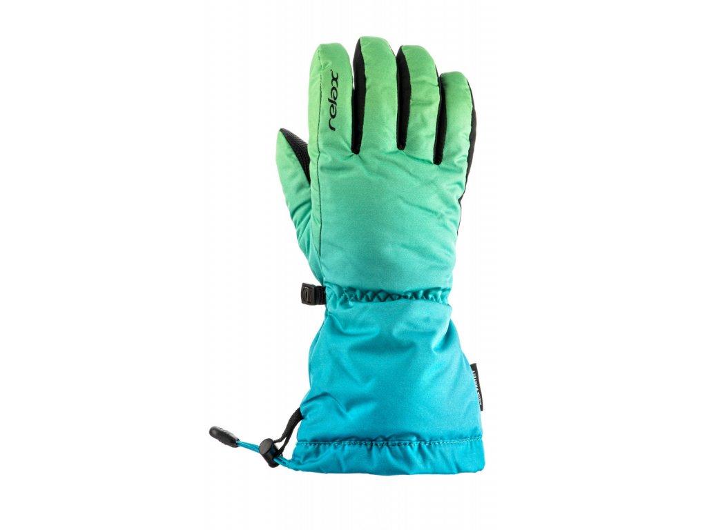 Dětské lyžařské rukavice Relax Puzzy RR15H junior (zeleno modré)