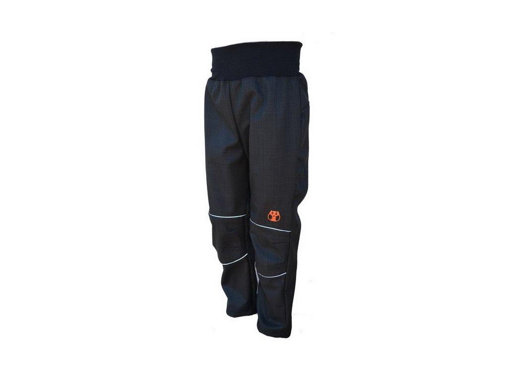 KUKADLOO Letní softshellové kalhoty - černo-reflexní