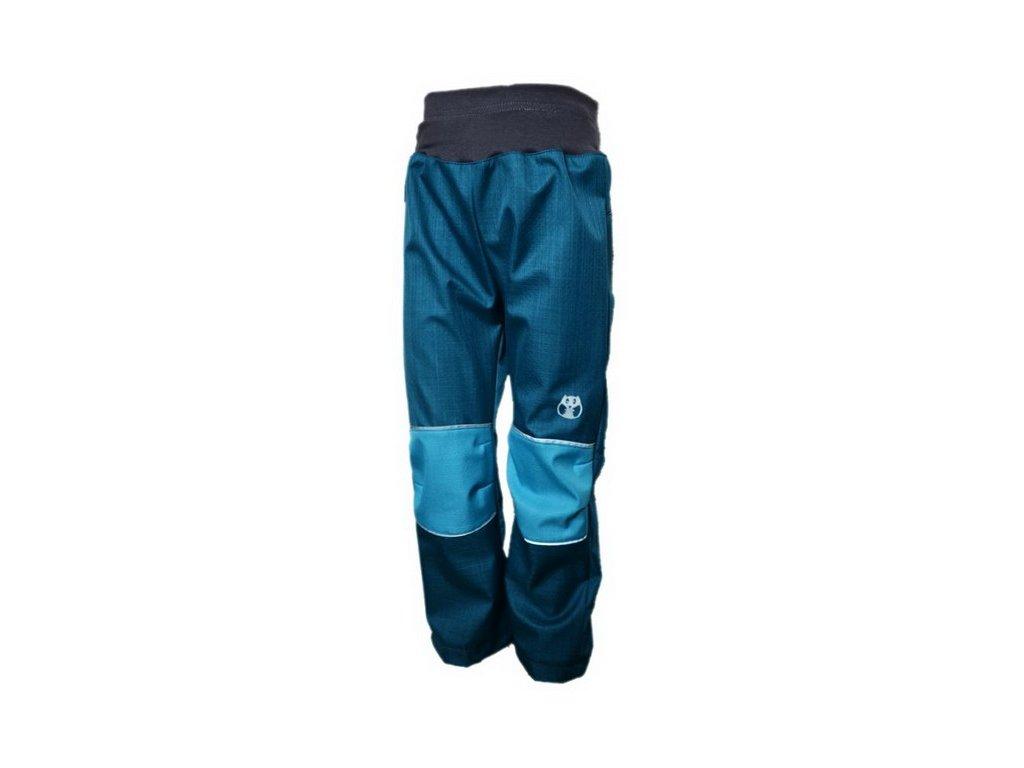 KUKADLOO Letní softshellové kalhoty - petrolejovo-tyrkysové