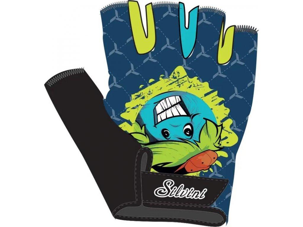 Dětské rukavice SILVINI PUNTA navy lime