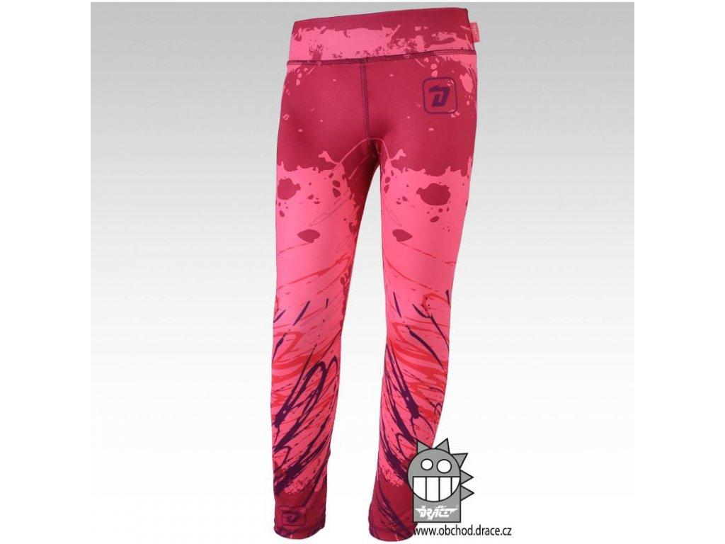 Dráče dětské legíny vzor 04, růžovo-fialové