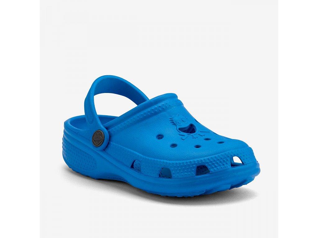 COQUI Dětské nazouváky BIG FROG Sea blue