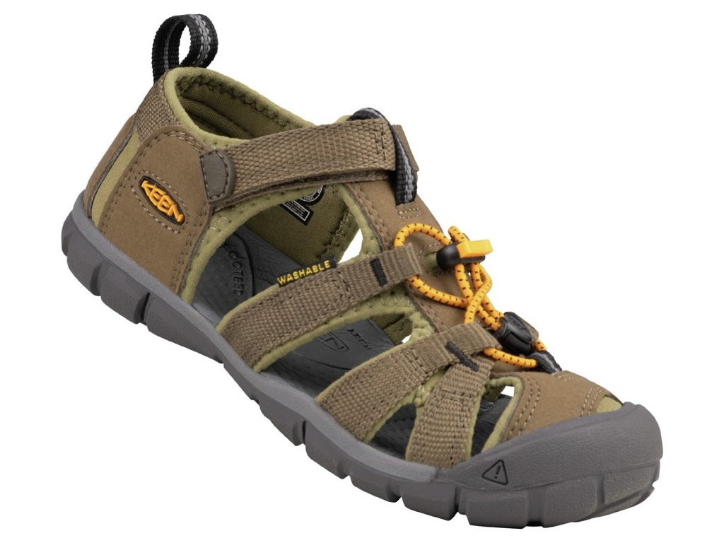 KEEN SEACAMP II CNX YOUTH JR military olive/saffron