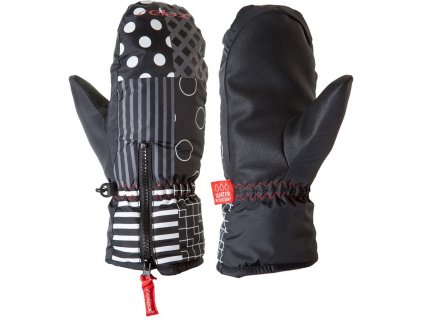 Dětské lyžařské rukavice Relax Cosmo RR16C palčáky (černo-bílé)