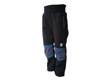 KUAKDLOO softshell kalhoty černé se zipem