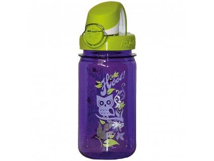 Nalgene CLEAR KIDS OTF 350ml Purple Hoot