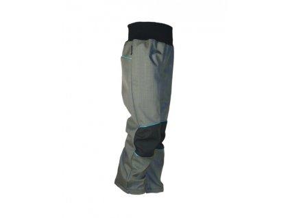 KUKADLOO Letní softshellové kalhoty - šedo-černé