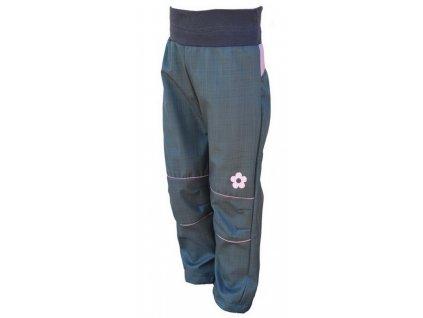 KUKADLOO Letní softshellové kalhoty šedo-růžové
