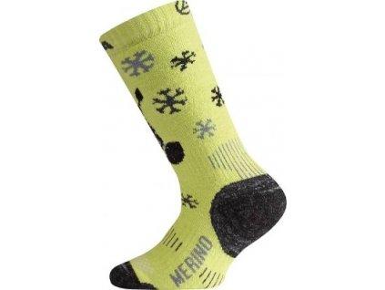 LASTING WJS 689 merino zelené dětské ponožky