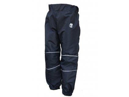 KUKADLOO Dětské šusťákové kalhoty černo-reflexní