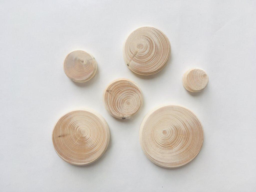 Smrkové suky 6 velikostí (6 ks)