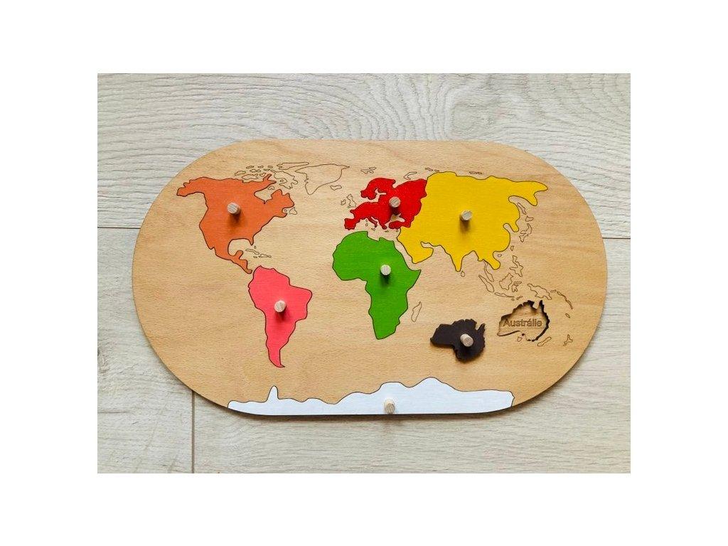 Vkládačka světadíly