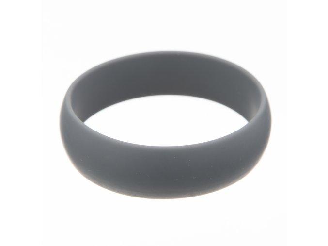 Silikonový náramek kulatý šedý