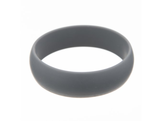 Silikonový náramek kousátko kulatý šedý