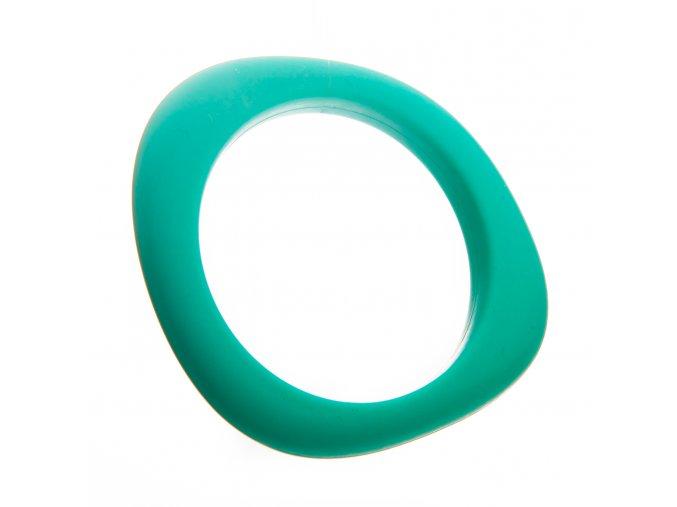 Silikonový náramek kousátko aqua