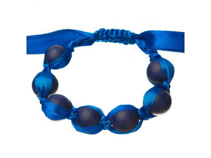 Silikonový náramek nastavitelný námořnická modř