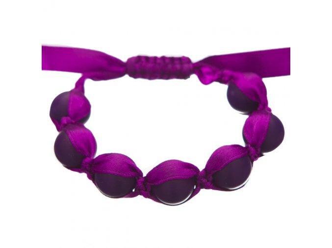 Silikonový náramek kousátko nastavitelný fialový