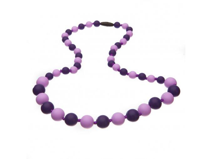 Silikonové korále lila-fialová