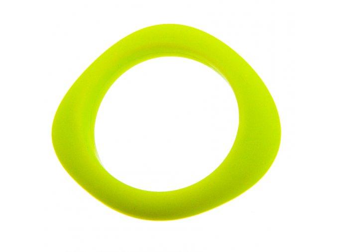 Silikonový náramek svítivě žlutý