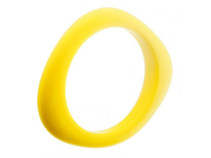 Silikonový náramek kousátko žlutý