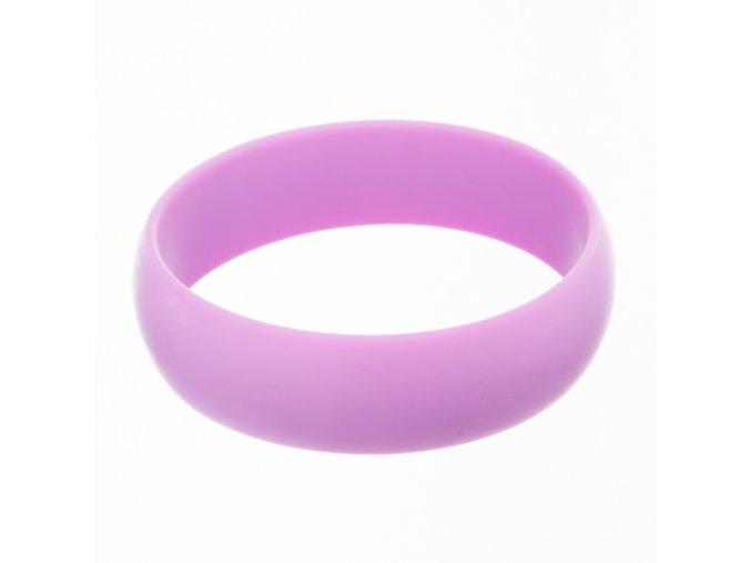 Silikonový náramek kulatý lila