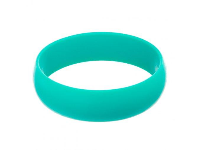 Silikonový náramek kousátko kulatý aqua
