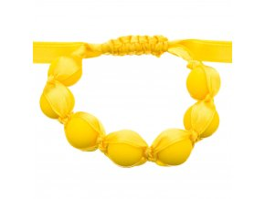Silikonový náramek nastavitelný žlutá