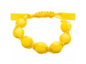 Silikonový náramek kousátko nastavitelný žlutá