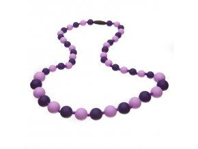 Silikonové kojící korále lila-fialová