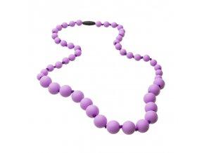 Silikonové kojící korále lila