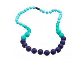 Silikonové korále tyrkys-aqua-fialová