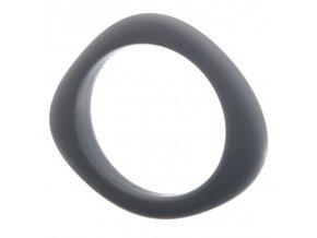 Silikonový náramek kousátko ocelově šedý