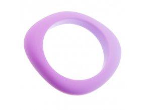 Silikonový náramek kousátko lila